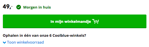 Callout Tekst Coolblue: Conversie optimalisatie